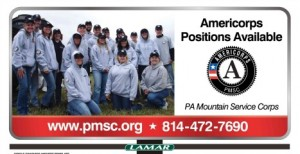 Americorps Positions Available. Call 814-472-7690.