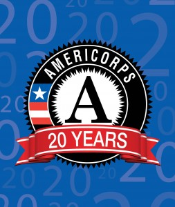 20th anniversary AmeriCorps Logo